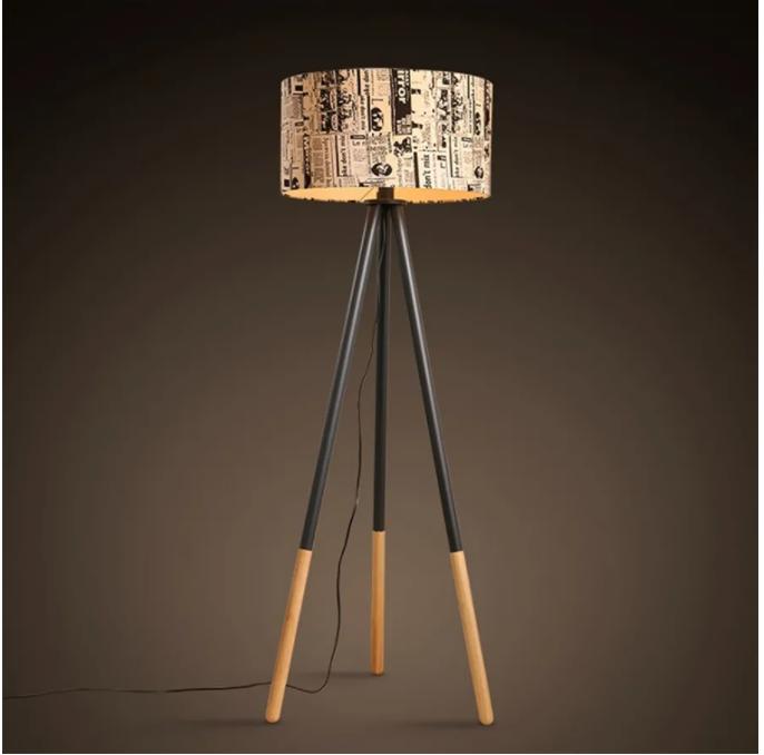 stojaca lampa urbanistický štýl