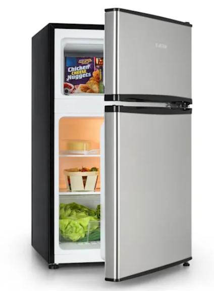 chladnička s mrazničkou hore