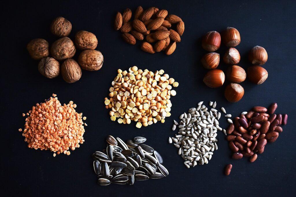 zdroje bielkovín orechy