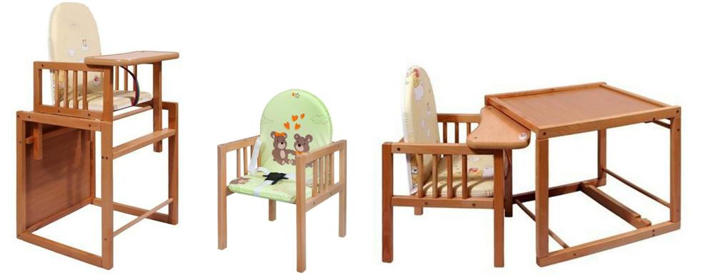 detska jedalenska stolicka drevena
