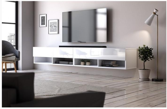 moderný závesný TV stôl