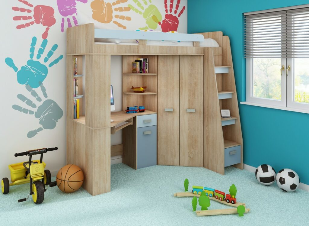 študentská chlapčenská detská izba
