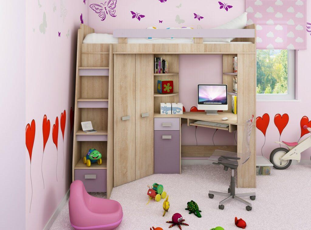 študenstká detská izba pre dievča