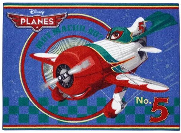 detský koberec lietadlo