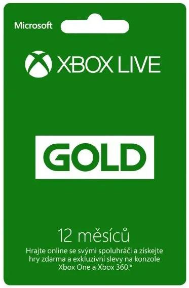 Microsoft Xbox Live zlatá karta
