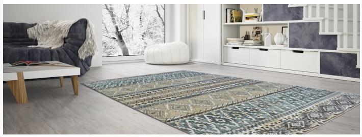 boho štýl koberec