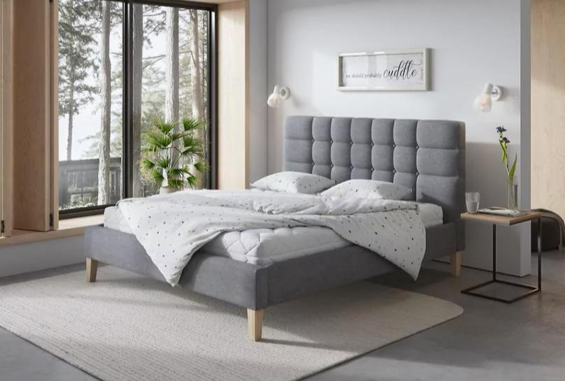 posteľ škandinávsky štýl
