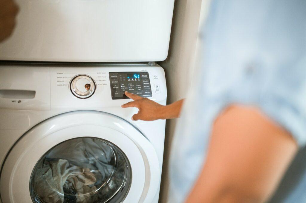 správne používanie práčky